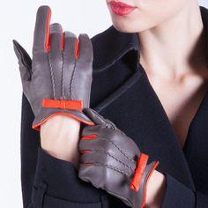 ON SALE: Italian Handmade Women's Leather Gloves Dress Gloves Winter Gloves…