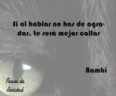 Frases de disney de Bambi