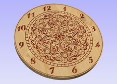 Clock face vector file eps for V-bit cnc carving. This file can be applied to any program CNC like Artcam and Vectric Aspire.