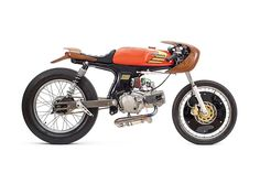 Woodface: George Woodman's Honda SS50 custom moped