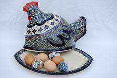 Moeder kip bewaakt de eieren