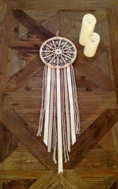 Bohemian rustic dreamcatcher by MadeByFreeSoul on Etsy