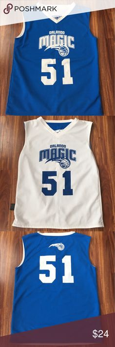 Men's Orlando magic reversible practice jersey Great condition, unique piece with the Orlando magic NBA logo and player number 51. Jersey is reversible suited for home and away games and scrimmages. Have never seen another adidas Shirts Tank Tops