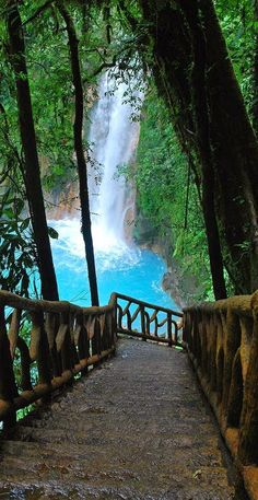 Rio Celeste, Waterfall in Costa Rica