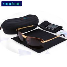 ea4b1a0bab 2017 ReeDoon Brand Fashion Polarizing Sunglasses Men Driving Sun Glasses  Alloy Frame 8 colors oculos Hot