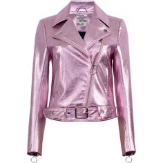 Baum und Pferdgarten Britany Metallic Leather Jacket (17.715 RUB) ❤ liked on Polyvore featuring outerwear, jackets, purple, zipper leather jacket, metallic leather jacket, zipper jacket, purple jacket and baum und pferdgarten