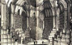 Erik Desmazieres imaginary libraries