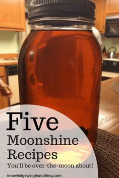 Get all 5 of the moonshine recipes. Includes an apple pie moonshine infographic recipe!