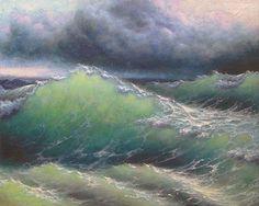 "209 - ""Oceanic Walls"",  5""x 7"" original canvas giclee print"