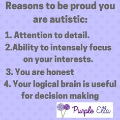 Reasons to be proud you are autistic.