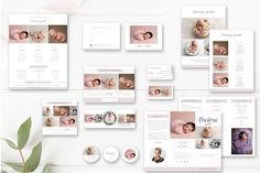 Buy the Bundle and Save!  Modern Marketing Set for Professional Newborn Photographers  This Photography Marketing Set for Newborn Photographers comes with nine  marketing templates to effectively enhance your photography studio. Within  the suite you will find two Pricing Guides, a Trifold Brochure, a Gift  Certificate, a Business Card, Marketing Board, Mini Session Template,  Facebook Timeline Cover, and Stickers  Templates can be used an unlimited amount of times for marketing or with…