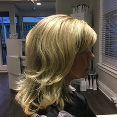 Blonde highlight with a blowout  By Sara- The Bend Salon • Barber - Webster Groves, MO