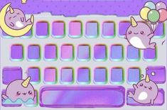 Keyboard, Kawaii, Wallpapers, Graphic Design, Little Princess, Ideas, Princesses, Unicorn, Display