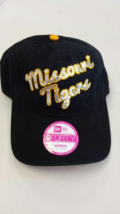 Missouri Tigers Ladies Glitzmark Adjustable 9FORTY Hat by New Era mo-sports-authentis-apparel-gifts.myshopify.com