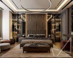 Master Bedroom design with Modern style on Behance Modern Luxury Bedroom, Master Bedroom Interior, Modern Master Bedroom, Luxurious Bedrooms, Bedroom Pop Design, Bedroom Furniture Design, Home Room Design, Decoration, Behance