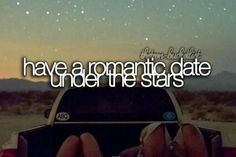 Have a romantic date under the stars