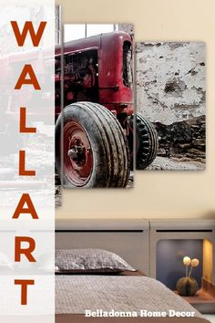 Material: CanvasSubject: LandscapeType: Canvas PrintingShape: IrregularFrame: With Frame Wall Canvas, Canvas Prints, Art Prints, Wall Art, Red Tractor, Tractors, Frame Sizes, Monster Trucks, Wall Decor