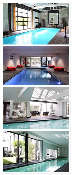14 Indoor Swimming Pool Magnificent with Incredible Designs - Torturein Egypt Swiming Pool, Indoor Swimming Pools, Swimming Pool Designs, Pool Spa, Pool Shapes, Dream Pools, Sauna, Cool Pools, Windows