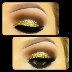 Yellow sparkle on your eyes