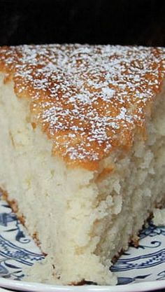 Old Fashioned Sugar Cake Recipe ~ no icing needed for this light and flavorful cake!