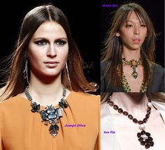 Choker comeback with this season chokers, I disagree. Leather Ring, Pearl Jewelry, Studs, Fall Winter, Chokers, Seasons, Chain, Sunglasses, How To Wear