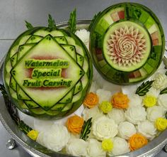 Watermelon Carving: Fruit Carving.