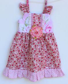 Floral Hello Kitty Girls Dress by LemonDoozyLane on Etsy