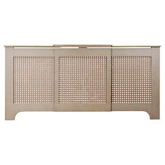 Halsted adjustable radiator cover, comes unfinished, ready to paint to your own choice, an ideal choice for safety and style. Radiator Covers Ikea, Radiator Heater Covers, Modern Radiator Cover, Entrance Hall Decor, Entrance Ideas, Hallway Ideas, Home Renovation, Home Remodeling, Hallway Mirror