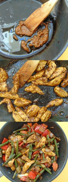 Verduras salteadas con pollo y curry