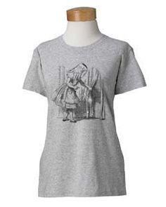 Womens Alice in Wonderland Screen Printed Grey by SamsaraPrints, $18.00 #shirts #shirt #tshirt #ladies #women #apparel #fashion #style #clothing #etsy #shopping #tops #blouse #tee #alice #in #wonderland