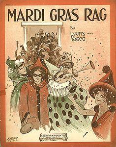 Couverture d'une partition pour Mardi Gras Rag (1914)