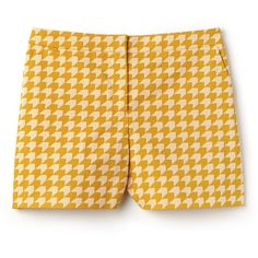 Orange Women's Bermuda Shorts With Houndstooth Print (€135) ❤ liked on Polyvore featuring shorts, bermuda shorts, orange shorts, orange bermuda shorts, lacoste shorts and tailored shorts