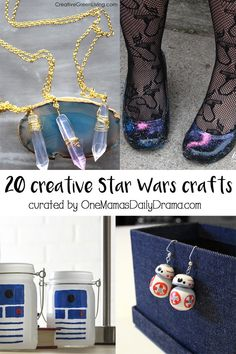 "20 creative Star Wars crafts for adults / curated by One Mama's Daily Drama // Turn ""The Last Jedi"" release into a Star Wars celebration! This roundup of over a dozen Star Wars crafts will inspire you with easy projects you can DiY."