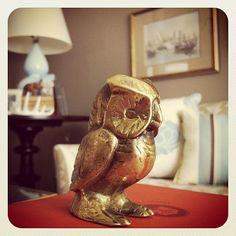 Brass owl figurine...it kinda looks like Bubo from the original Clash of the Titans.