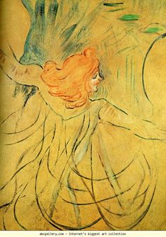Henri de Toulouse-Lautrec. Loie Fuller. 1892. Oil thinned with turpentine on tracing paper mounted on cardboard. 46 cm x 32 cm. Private collection