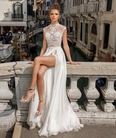julie vino spring Venice 2018 bridal sleeveless illusion high neck sweetheart neckline heavily embellished bodice flowy skirt romantic sexy a line wedding dress covered lace back chapel train zv -- Julie Vino Spring 2018 Wedding Dresses Wedding Dresses 2018, Bridal Dresses, Prom Dresses, Wedding Dresses Short Bride, Italian Wedding Dresses, Corset Dresses, Event Dresses, Sexy Dresses, Pretty Dresses