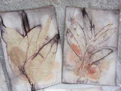 Leaves prints on paper for journal making http://terriekwong.blogspot.hk/2013/02/eco-print-ref-book.html