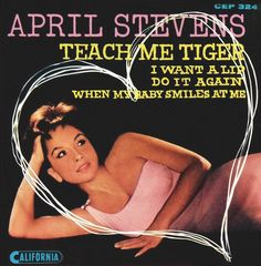 april stevens - teach me tiger /// listen to it on http://radioactive.myl2mr.com /// plattenkreisel - circular record shelf, dj booth, atomic cafe, panatomic, records, rod skunk, vinyl, raregroove, crate digging, crate digger, record collection, record collector, record nerd, record store, turntable, vinyl collector, vinyl collection, vinyl community, vinyl junkie, vinyl addict, vinyl freak, vinyl record, cover art, label scan