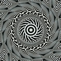 Radial, simple but complex. The spirals and black and white plays with the eyes.