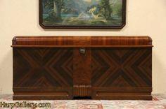 Art Deco Cavalier Waterfall 1935 Cedar Chest or Bench - Harp Gallery Antique Furniture