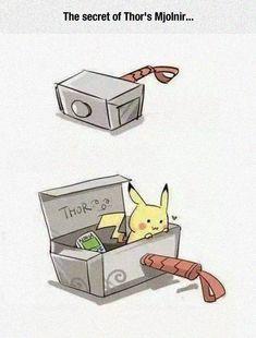 The Secret of Thor's Mjolnir Pikachu