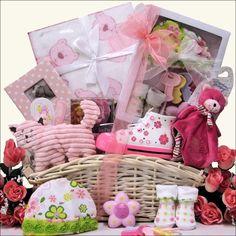 Luxurious Baby Girl Gift Basket