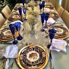 beautiful classic table setting.