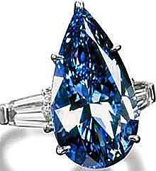 Elizabeth Taylor's blue diamond pear ring