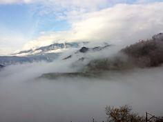 Fogs in Val di Cembra -  view from Verla di Giovo -Italy