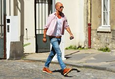 Tommy Ton's Men's Street Style at Paris Fashion Week: Style: GQ on imgfave Hipster Style Outfits, Hipster Fashion, Mens Fashion, Fashion Outfits, Paris Fashion, Street Fashion, Moda Hipster, Mens Style Looks, Male Style