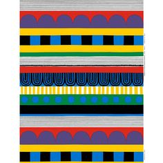 Marimekko Ryijy Fabric Repeat An intricate pattern of stylized repeating horizontal stripes, this 2011 Maija Louekari print is festive and bright. The Ryijy pattern gets its name from the Finnish tapestries, often used as a prayer . Marimekko Fabric, Crazy Outfits, Pattern Illustration, Fabric Patterns, Cotton Fabric, Outdoor Blanket, Flag, Stripes, Textiles