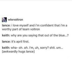 LANCE NO MY SON PLEASE YOU ARE AMAZING AND YOU ARE WORTHY TO BE A PART OF VOLTRON WE LOVE YOU
