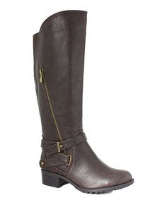 42567f0dc12 Intaglia Chocolate Westport Extra Wide-Calf Boot
