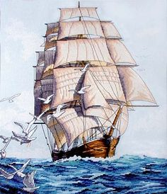 Dimensions Counted #crossstitch  CLIPPER SHIP VOYAGE #DIY #crafts #decor #needlework #crossstitching